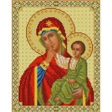 Ткань для вышивания бисером Богородица Отрада и Утешение, 20х25, Конек