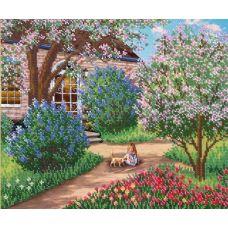 Вышивка бисером Цветущий сад, 26x31, Русская искусница