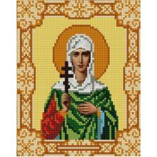 Ткань для вышивания бисером Святая Антонина, 15х18, Конек