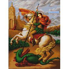 Ткань для вышивания бисером Святой Георгий Победоносец, 29х39, Конек