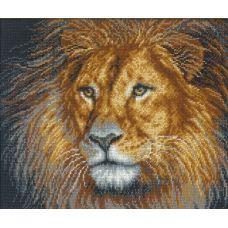 Набор для вышивания Лев, 31x26, Русская искусница