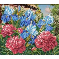 Набор для вышивания Уголок сада, 31x26, Русская искусница