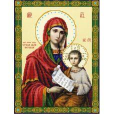 Ткань для вышивания бисером Богородица Утоли мои печали, 29х39, Конек