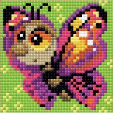 Алмазная мозаика Бабочка, 10x10, полная выкладка, Риолис