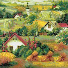 Алмазная мозаика Сербский пейзаж, 40x40, полная выкладка, Риолис