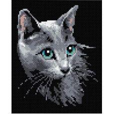 Алмазная мозаика Русская голубая, 20x25, полная выкладка, Риолис