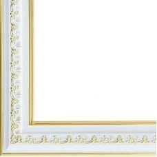 Рама багетная BELLA (СЕРЕБРЯНЫЙ+ЗОЛОТОЙ) 30x40, Белоснежка