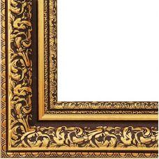 Багетная рама Melissa (коричневый+золотой), 30x40, Белоснежка