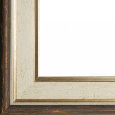 Багетная рама Naomi (коричневый + белый), 40x50, Белоснежка