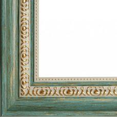 Багетная рама Vanessa (бирюзовый+золотой), 40x50, Белоснежка
