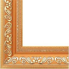 Багетная рама Jasmine (с. коричневый+золотой), 30x40, Белоснежка