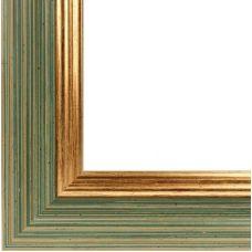 Багетная рама Jenny (зеленый+золотой), 40x50, Белоснежка