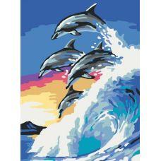 Раскраска На гребне волны, 30x40, Белоснежка