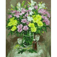 Раскраска Осенние хризантемы Михаила Бровкина, 40x50, Белоснежка