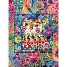 Раскраска Кот в окошке, 30x40, Белоснежка