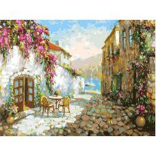 Живопись на холсте Тенистые улочки Прованса, 30x40, Белоснежка