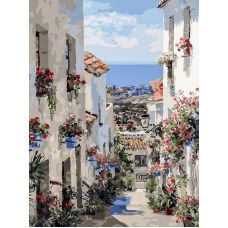 Живопись на холсте Испания. Михас, 30x40, Белоснежка