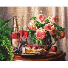 Живопись на холсте Розовое шампанское, 40x50, Белоснежка