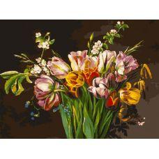 Живопись на холсте Голландские тюльпаны, 30x40, Белоснежка
