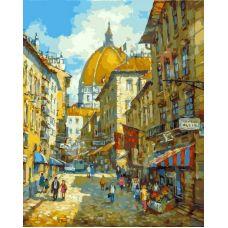 Живопись по номерам Прогулка по Флоренции, 40x50, Белоснежка