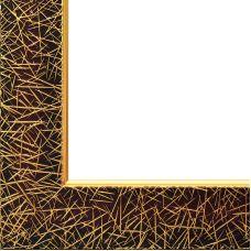 Багетная рама Sara (коричневый+золотой), 40x50, Белоснежка
