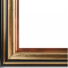 Багетная рама Brenda (коричневый+золотой), 30x40, Белоснежка