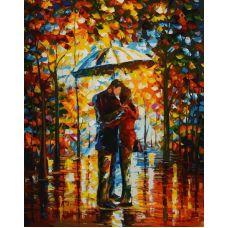 Картина по номерам Поцелуй в парке Л.Афремова, 40x50, Белоснежка