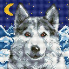 Алмазная мозаика Вожак, 20x20, полная выкладка, Белоснежка