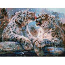 Алмазная мозаика Ирбисы, 30x40, полная выкладка, Белоснежка