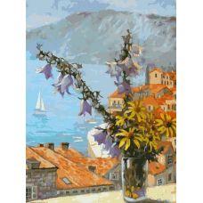 Картина по номерам Букет с колокольчиками, 30x40, Белоснежка