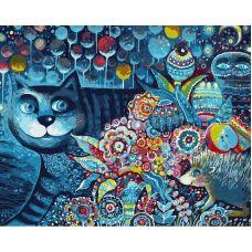 Живопись по номерам Индиго кот, 40x50, Белоснежка
