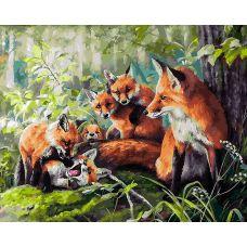 Живопись на холсте Кутерьма , 40x50, Белоснежка