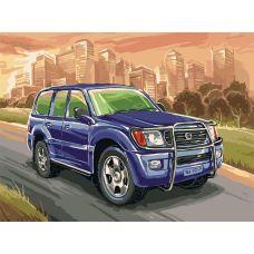 Живопись по номерам Toyota Land Cruiser, 30x40, Белоснежка