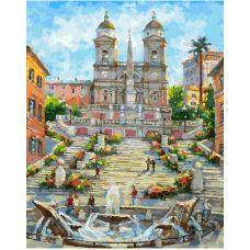 Живопись по номерам Рим. Испанская лестница, 40x50, Белоснежка