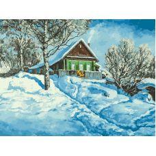 Живопись по номерам Домик на горе, 30x40, Белоснежка