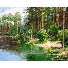 Живопись по номерам У озера, 40x50, Белоснежка