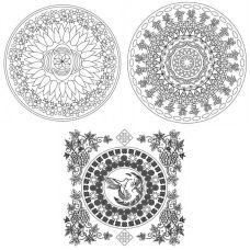 Живопись на картоне Мандала Духовное развитие, 30x30, Белоснежка