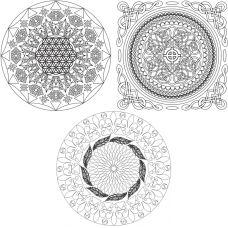 Живопись на картоне Мандала Твой мир, 30x30, Белоснежка