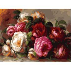 Живопись на холсте Розы Ренуара, 30x40, Белоснежка