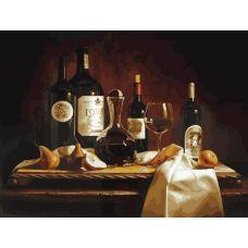 Живопись на холсте Вино и груши, 30x40, Белоснежка