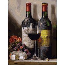 Живопись на холсте Вино и сыр, 30x40, Белоснежка