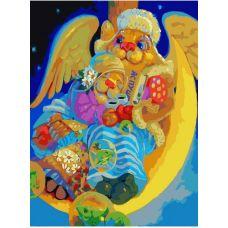 Живопись на холсте Ночной брудершафт, 30x40, Белоснежка