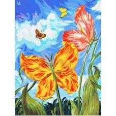 Живопись по номерам Бабочки, 30x40, Белоснежка