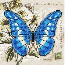 Канва с рисунком Бабочка 3, 25x25, Божья коровка