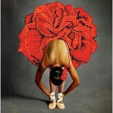 Канва с рисунком Балерина, 40x40, Божья коровка