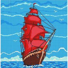 Канва с рисунком Алые Паруса, 40x40, Божья коровка