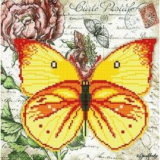 Канва с рисунком Бабочка 7, 25x25, Божья коровка