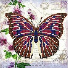 Канва с рисунком Бабочка 9, 25x25, Божья коровка