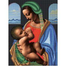 Канва с рисунком Мадонна Литта, 45x60, Божья коровка