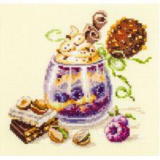 Набор для вышивания крестом Шоколадный десерт, 17x17, Чудесная игла